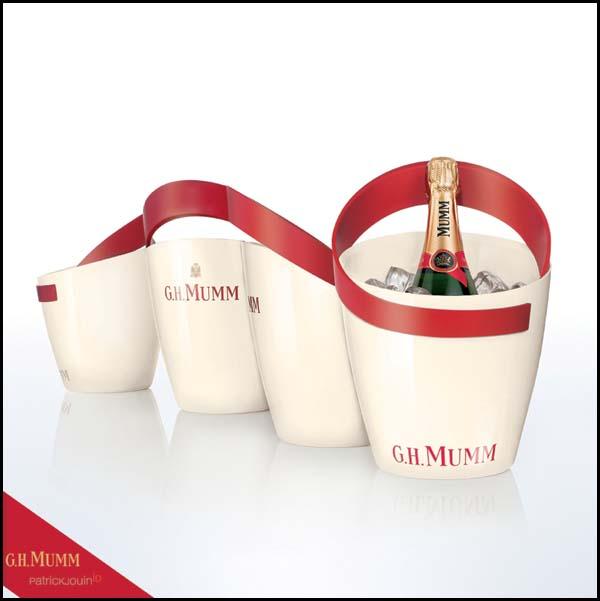 une nouvelle ligne de service champagne par mumm et patrick jouin alambic magazine. Black Bedroom Furniture Sets. Home Design Ideas
