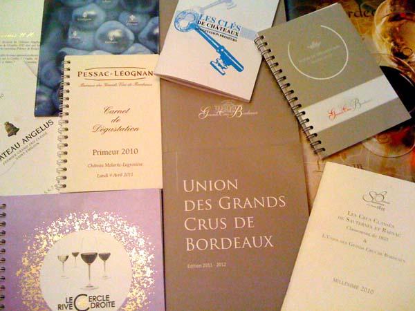 Primeurs Bordeaux 2011 - Carnets de Dégustation